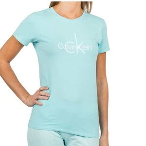 ❤️ Calvin Klein Turquoise Cotton Tee Shirt